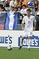 Brad Evans controls the ball. USA defeated Grenada 4-0 during the First Round of the 2009 CONCACAF Gold Cup at Qwest Field in Seattle, Washington on July 4, 2009.