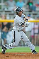 Bristol second baseman Oney Guillen (14) takes his swings versus Burlington at Burlington Athletic Park in Burlington, NC, Thursday, July 12, 2007.