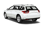 Car pictures of rear three quarter view of 2015 Citroen C5-Tourer-XTR Hydractive-Exclusive 5 Door wagon Angular Rear