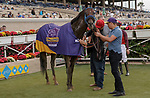VieDEL MAR, CA  JULY 31: #8 Dr Schivel, ridden by Flavien Prat and the connections after winning the Bing Crosby Breeders Cup Win and You're In Sprint Division on July 31, 2021 at Del MarThoroughbred Club in Del Mar, CA. (Photo by Casey Phillips/Eclipse lSportswire/CSM)