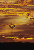 Windmill at sunset,Rio Grande Valley,Texas, USA