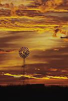 Windmill at sunset,Rio Grande Valley,Texas, USA