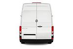Straight rear view of a 2019 Volkswagen Crafter Base 4 Door Cargo Van stock images