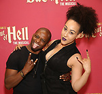 """Tyrick Wiltez Jones and Danielle Steers during Jim Steinman's """"Bat Out of Hell - The Musical"""" - Open Rehearsal at New York City Center on July 30, 2019 in New York City."""