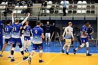 27-03-2021: Volleybal: Amysoft Lycurgus v Draisma Dynamo: Groningen Lycurgus viert een punt