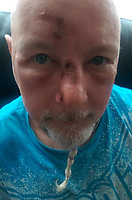 Pictured: David Wings<br /> Re: Crime author David Wings (known as David Weeks) is on trial at Cardiff Crown Court, for trying to kill his wife Yvonne with a machete at their flat in Porth, south Wales, UK.<br /> She was airlifted to hospital after the brutal attack.