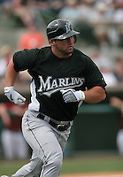 Dan Uggla of the Florida Marlins vs. the Houston Astros March 15th, 2007 at Osceola County Stadium in Kissimmee, FL during Spring Training action.  Photo By Mike Janes/Four Seam Images