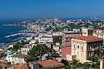 Italy, Campania, Naples: View of Naples bay from Castel Sant' Elmo | Italien, Kampanien, Neapel: Blick vom Castel Sant' Elmo ueber die Stadt auf den Golf von Neapel