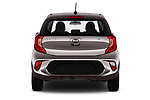 Straight rear view of 2017 KIA Picanto Fusion 5 Door Hatchback stock images