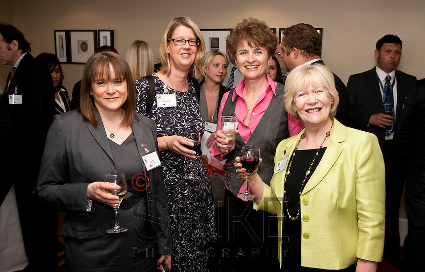 Francine Pickering of Clarity Marketing (2nd left) celebrates her birthday. Pictured with Francine from left are Kate Robbins of Roythornes, Alison Rayner of Initial Design and Ann Vickers of Nottingham University
