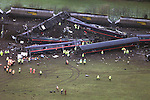 Pix, Shaun Flannery. Fatal rail crash at Great Heck nr. Selby...COPYRIGHT PICTURE>>SHAUN FLANNERY>>01302-570814>>..Fatal rail crash