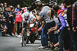 Tadej Pogacar (SLO) UAE Team Emirates in action during Stage 5 of the 2021 Tour de France, an individual time trial running 27.2km from Change to Laval, France. 30th June 2021.  <br /> Picture: A.S.O./Pauline Ballet | Cyclefile<br /> <br /> All photos usage must carry mandatory copyright credit (© Cyclefile | A.S.O./Pauline Ballet)