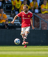 18th July 2021; Pride Park, Derby, East Midlands; Pre Season Friendly Football, Derby County versus Manchester United;  Juan Mata of Manchester United (C)