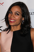 """HOLLYWOOD, CA - JANUARY 14: Rosario Dawson at the Los Angeles Screening of Roadside Attractions & Day 28 Films' """"Gimme Shelter"""" held at the Egyptian Theatre on January 14, 2014 in Hollywood, California. (Photo by Xavier Collin/Celebrity Monitor)"""