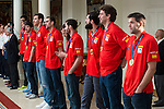 The reception of Prime Minister Mariano Rajoy to Spain national basketball team gold at EuroBasket 2015 at Moncloa Palace in Madrid, 21 September, 2015.<br /> (ALTERPHOTOS/BorjaB.Hojas)