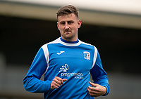 Scott Quigley of Barrow warms up pre match during the Sky Bet League 2 match between Forest Green Rovers and Barrow at The New Lawn, Nailsworth on Tuesday 27th April 2021. (Credit: Prime Media Images I MI News)