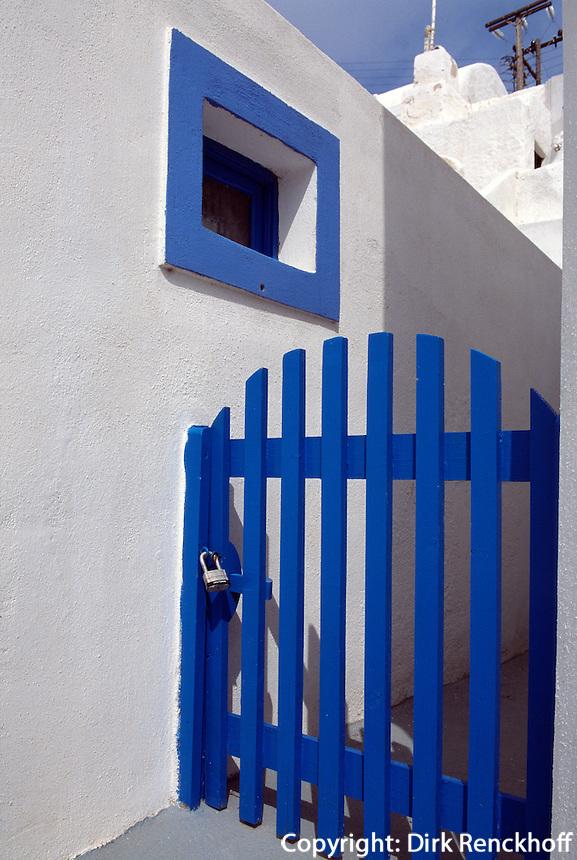 Haus auf Thirasia bei Santorin (Santorini), Griechenland, Europa