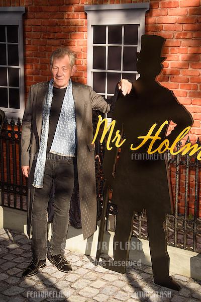"Sir Ian McKellan at the UK premiere of ""Mr Holmes"" at the Odeon Kensington, London<br /> June 10, 2015  London, UK<br /> Picture: Steve Vas / Featureflash"