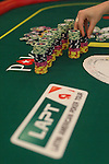 Chips and card prior to play