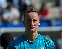 GRENOBLE, FRANCE - JUNE 22: Almuth Schult #1 of the German National Team during a game between Panama and Guyana at Stade des Alpes on June 22, 2019 in Grenoble, France.