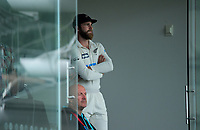 NZ captain Kane Williamson watches from the pavilion during day three of the second International Test Cricket match between the New Zealand Black Caps and Pakistan at Hagley Oval in Christchurch, New Zealand on Tuesday, 5 January 2021. Photo: Dave Lintott / lintottphoto.co.nz