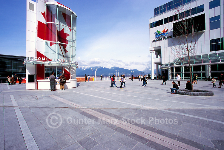 "The New Tourist Welcome Centre and Information Booth and ""Canada Place"" Trade, Convention and Exhibition Centre, Vancouver, British Columbia, Canada"