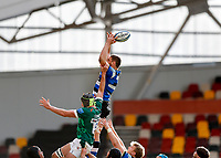 27th March 2021; Brentford Community Stadium, London, England; Gallagher Premiership Rugby, London Irish versus Bath; Charlie Ewels of Bath misses the catch from the line out