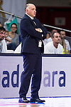 Real Madrid's coach Pablo Laso during match of Liga Endesa at Barclaycard Center in Madrid. September 30, Spain. 2016. (ALTERPHOTOS/BorjaB.Hojas)