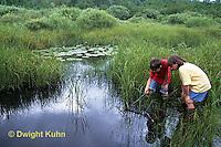 FA27-124z  Children exploring at pond