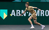 Rotterdam, The Netherlands,7 march  2021, ABNAMRO World Tennis Tournament, Ahoy,  <br /> Final: Andrey Rublev (RUS).<br /> Photo: www.tennisimages.com/henkkoster