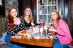 Enjoying the evening in Molly J's on Thursday, l to r: Isabelle Evans, Megan Doyle and Aisling O'Reilly.