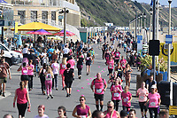 BNPS.co.uk (01202 558833)<br /> Pic: BNPS<br /> <br /> Pictured: Bournemouth hosted a Race for Life run along the esplanade today<br /> <br /> Weather input - Warm weather in Bournemouth<br /> <br /> People made the most of the late September sun at Bournemouth beach in Dorset today (Sunday).