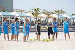 Marcelo Mendes & Japan team group (JPN),<br /> APRIL 20, 2014 - Beach Soccer :<br /> Beach Soccer Japan national team candidates training camp in Okinawa, Japan. (Photo by Wataru Kohayakawa/AFLO)