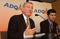 Pierre Bourque et Mario Dumont, 2003<br /> <br /> <br /> PHOTO D'ARCHIVE: agence Quebec Presse - Jacques Pharand