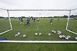 Stockport Pre-Season Training, 09/07/2008. Manor Farm, Timperley, League One. Stockport County players playing a small-sided practice match during a pre-season training session at the club's training ground at Manor Farm, Timperley, Cheshire. Stockport County were promoted up to league One following a play-off final victory over Rochdale at Wembley in May, 2008. Jim Gannon took over as manager of the club in 2006 and lead them to promotion after three seasons in League Two. Photo by Colin McPherson.