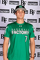 Owen Viano (7) of Centennial High School in Boise, Idaho during the Baseball Factory All-America Pre-Season Tournament, powered by Under Armour, on January 12, 2018 at Sloan Park Complex in Mesa, Arizona.  (Mike Janes/Four Seam Images)