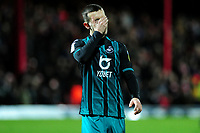 Bersant Celina of Swansea City looks dejected at full time during the Sky Bet Championship match between Brentford and Swansea City at Griffin Park in Brentford, England, UK. Thursday 26 December 2019