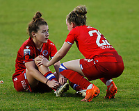 Angharad James and Rachel Rowe of Reading during Tottenham Hotspur Women vs Reading FC Women, Barclays FA Women's Super League Football at the Hive Stadium on 7th November 2020