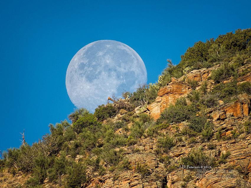 Super Moon Setting over Seven Warriors Ridge