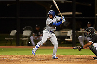 AZL Dodgers Lasorda Jorbit Vivas (56) at bat during an Arizona League game against the AZL White Sox at Camelback Ranch on June 18, 2019 in Glendale, Arizona. AZL Dodgers Lasorda defeated AZL White Sox 7-3. (Zachary Lucy/Four Seam Images)