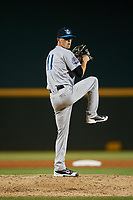 Tampa Tarpons relief pitcher Phillip Diehl (11) delivers a pitch during a game against the Bradenton Marauders on April 25, 2018 at LECOM Park in Bradenton, Florida.  Tampa defeated Bradenton 7-3.  (Mike Janes/Four Seam Images)