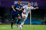 (L) Juan Guilherme Nunes of FC Internazionale Milano being followed by (R) Lucas Vazquez of Real Madrid CF during the FC Internazionale Milano vs Real Madrid  as part of the International Champions Cup 2015 at the Tianhe Sports Centre on 27 July 2015 in Guangzhou, China. Photo by Aitor Alcalde / Power Sport Images