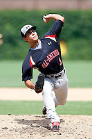 August 8, 2009:  Pitcher Cayle Shambaugh (3) of the Baseball Factory team during the Under Armour All-America event at Wrigley Field in Chicago, IL.  Photo By Mike Janes/Four Seam Images