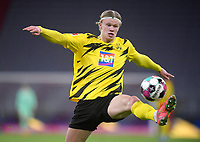 06.03.2021, Fussball 1. Bundesliga 2020/2021, 24. Spieltag, FC Bayern München - Borussia Dortmund, in der Allianz-Arena München. Erling Haaland (Borussia Dortmund)<br /> <br /> Foto: Bernd Feil/M.i.S./Pool<br /> <br /> Nur für journalistische Zwecke! Only for editorial use! <br /> DFL regulations prohibit any use of photographs as image sequences and/or quasi-video.    <br /> National and international NewsAgencies OUT. <br /> Bundesliga 2020/2021 <br /> photo Imago/Insidefoto <br /> ITALY ONLY