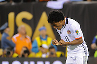 East Rutherford, NJ - Friday June 17, 2016: Juan Cuadrado during a Copa America Centenario quarterfinal match between Peru (PER) vs Colombia (COL) at MetLife Stadium.