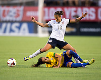 Carli Lloyd, Thaisa.  The USWNT defeated Brazil, 4-1, at an international friendly at the Florida Citrus Bowl in Orlando, FL.