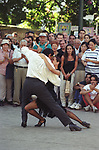 Buenos Aires Argentina South America BsAs Professional dancers Tango dancing in the tourist district of San Telmo 2002 2000s
