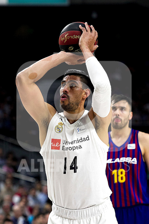 Real Madrid's Gustavo Ayon during Liga Endesa match between Real Madrid and FC Barcelona Lassa at Wizink Center in Madrid, Spain. March 24, 2019.  (ALTERPHOTOS/Alconada)