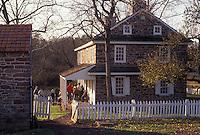 AJ3269, Daniel Boone Homestead, Pennsylvania, Stone house at Daniel Boone Birthplace in Birdsboro in the state of Pennsylvania.