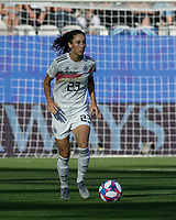 GRENOBLE, FRANCE - JUNE 22: Sara Doorsoun #23 brings the ball forward during a game between Panama and Guyana at Stade des Alpes on June 22, 2019 in Grenoble, France.